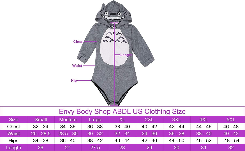 ABDL//DDLG//Cosplay//Costume ENVY BODY SHOP Toto Romper Onesie Bodysuit