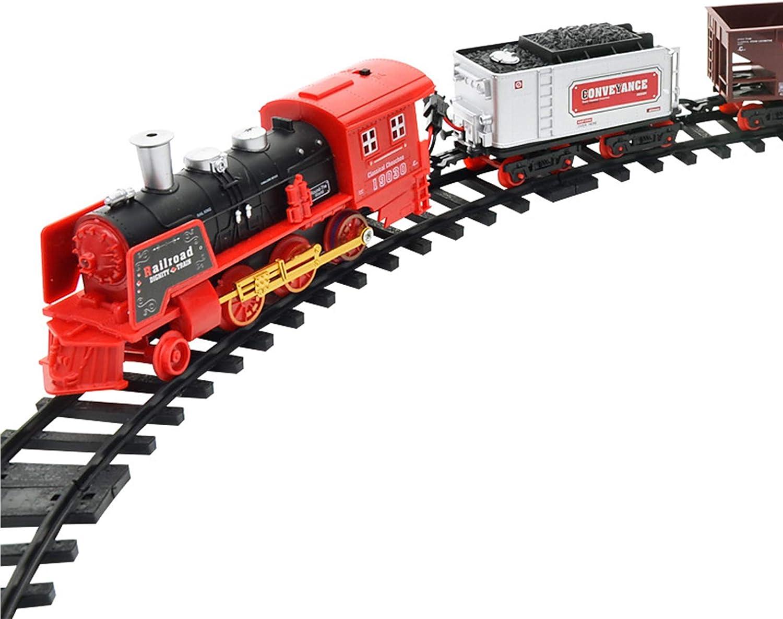 RSTJ-Sjap Modelo de simulación de Tren de Control Remoto de Fumar eléctrico Sistema de Juguete para niños de Tren Recargable