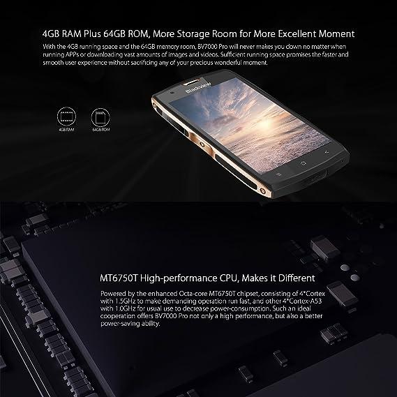 Blackview BV7000 Pro - Smartphone Rugerizado 4G de 5.0FHD (IP68 ...