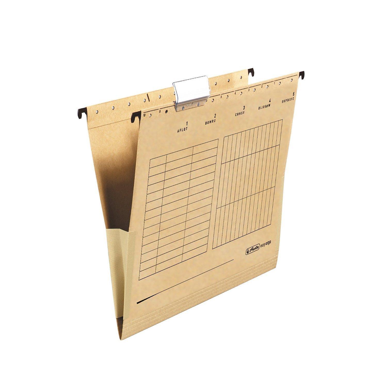 Herlitz 10843373 Hängetasche mit Leinenfröschen, A4, braun (4 Kartons = 100 Stück) B06ZXSMG1G | Große Auswahl