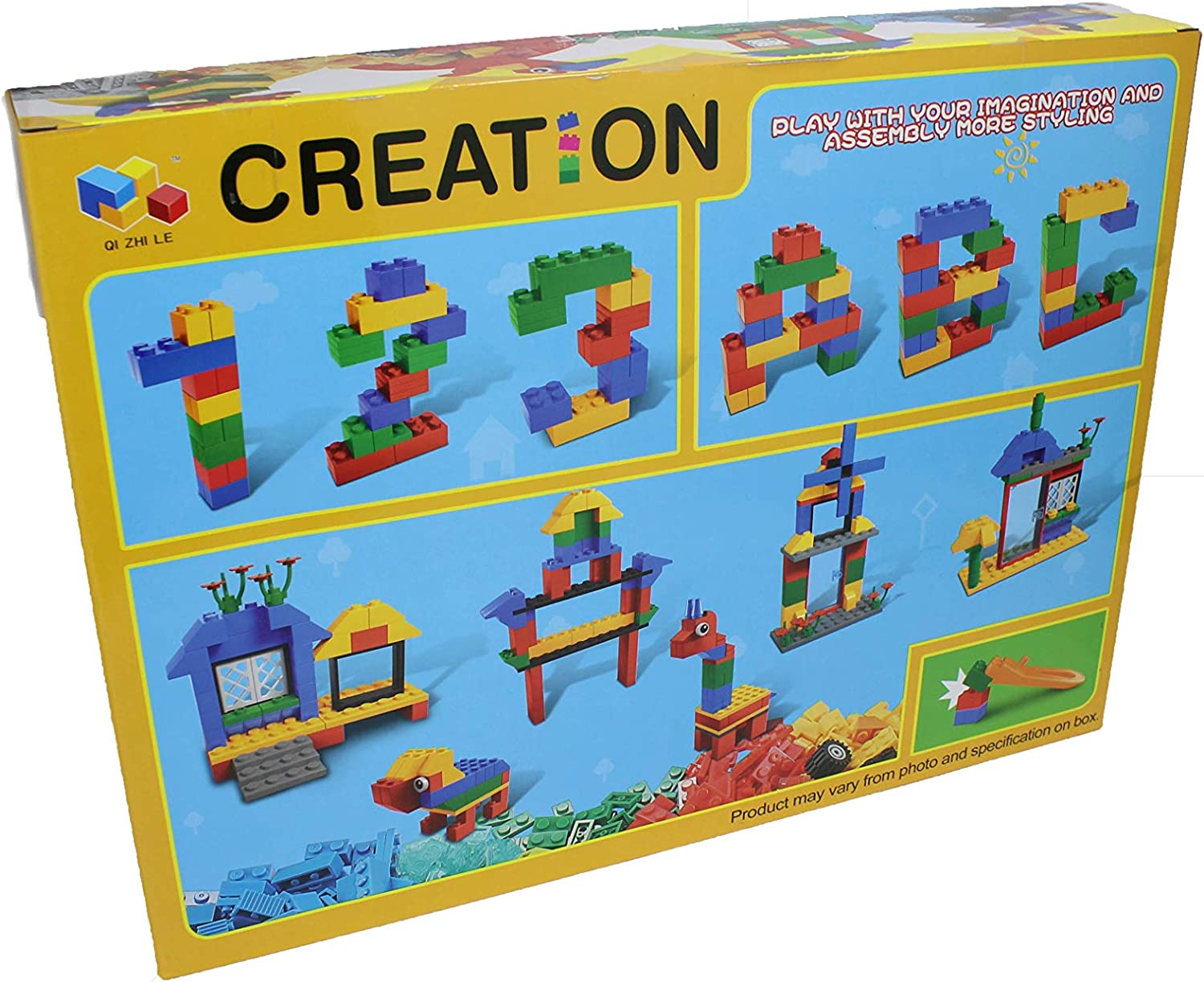 STEM Educational Learning Activity 10x10 for Kids Compatible with All Major Brands - Great for Creative /& Construction Play Jade Branches 1100 Building Bricks with 2 baseplates