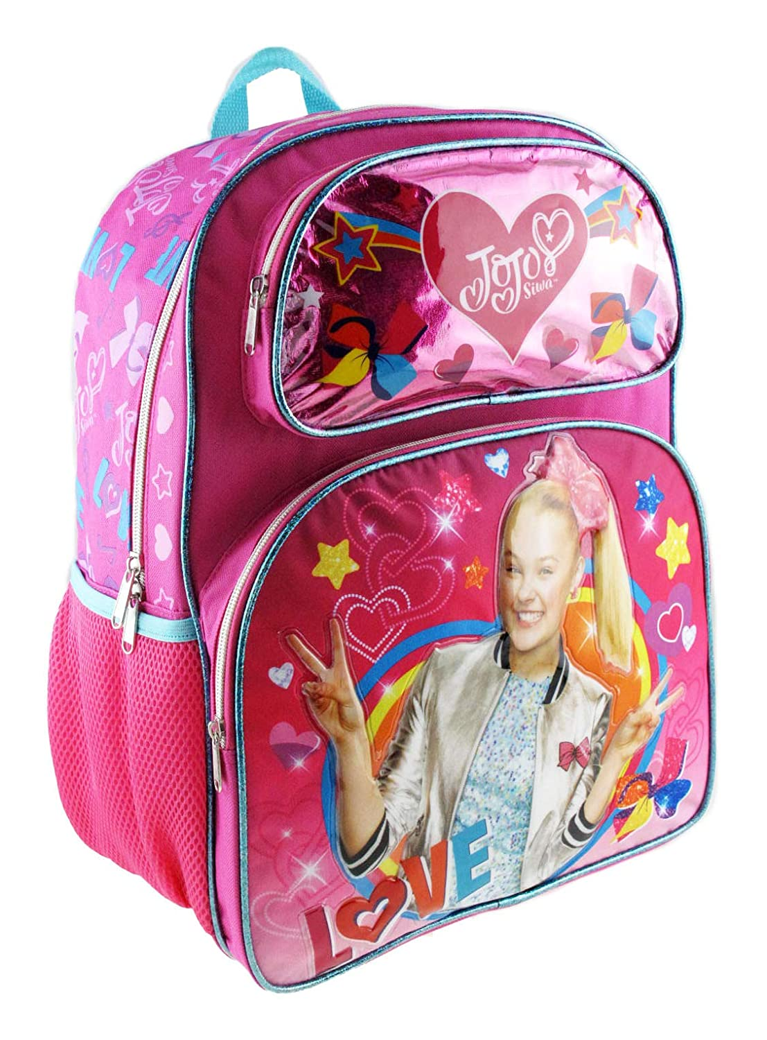 Jojo Siwa 16 Deluxe 3D Backpack /& Matching Insulated Lunch Box PLUS Erasers