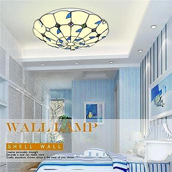 Blau Verlasst Warmes Licht Runde Led Schlafzimmer Balkon Franzosisch