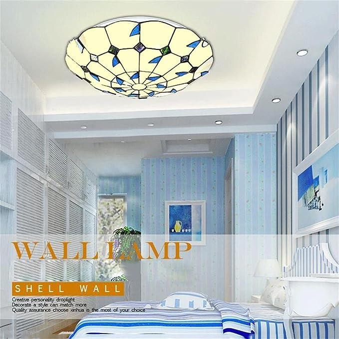 Blau verlässt warmes Licht Runde LED-Schlafzimmer Balkon Französisch ...