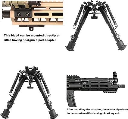 "Details about  /V8 6.5/""-9/"" Bipod Adjustable Foldable 20mm Picatinny Rail QD Mount Rifle Shooting"