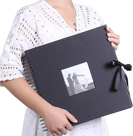 "Paquete Doble Bolsillo Mini álbumes de fotos 4/""x6/"" 24 fotos cada-Negro y blanco espiral"