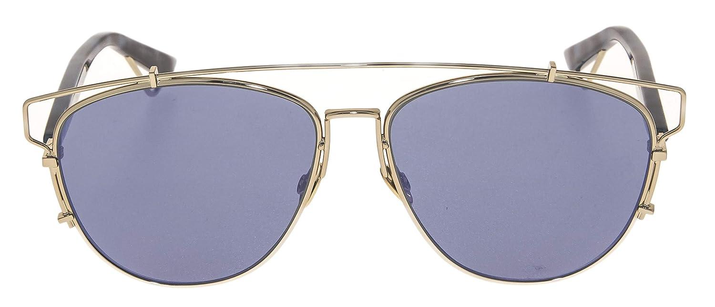 9b85d6bfc9b Amazon.com  CHRISTIAN DIOR TECHNOLOGIC Spotted Blue Lilac Flat Mirrored  Sunglasses  Clothing