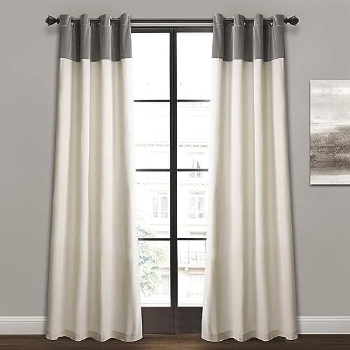 Lush Decor Milo Linen Window Curtain Panel Pair - a good cheap window curtain panel