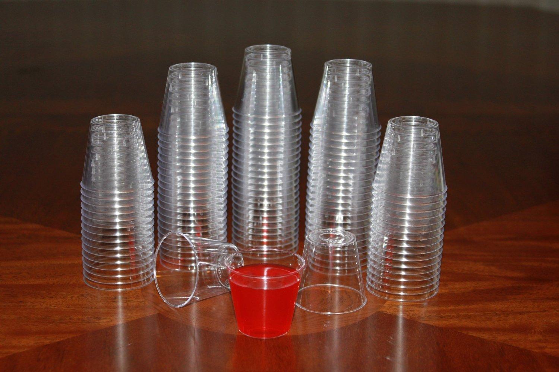 1 ounce Clear Plastic Shot Glasses - Box of 500 (1 oz)
