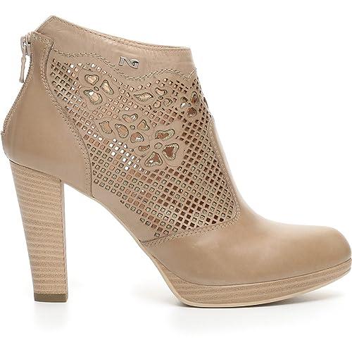 04ab90b78220c Nero Giardini Scarpe Donna Tronchetto in Pelle Champagne P717004D-439   Amazon.co.uk  Shoes   Bags