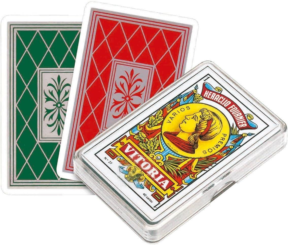 Fournier Outletdelocio. Baraja española 40 Cartas. En Estuche de plástico: Amazon.es: Juguetes y juegos