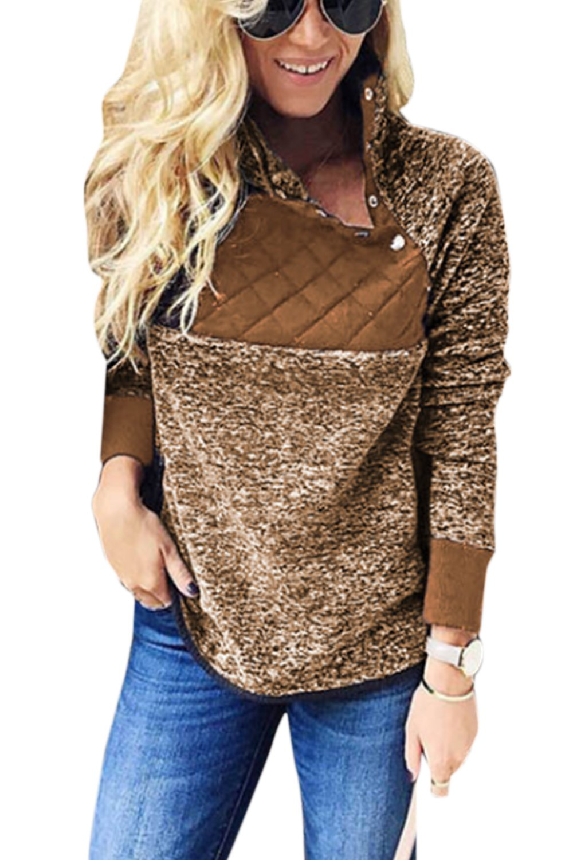 eae4190ed2d Women Pullover Sweatshirt Fleece Fuzzy Casual Sweater Tops  Amazon.co.uk   Clothing