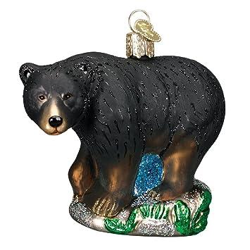 Old World Christmas Ornaments: Black Bear Glass Blown Ornaments for  Christmas Tree - Amazon.com: Old World Christmas Ornaments: Black Bear Glass Blown