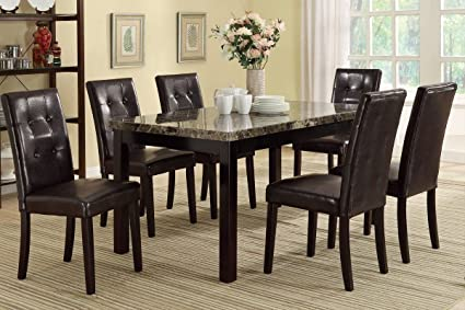 Amazon Com Set Of 4 Faux Leather Dining Chair With Pine Wood Frame