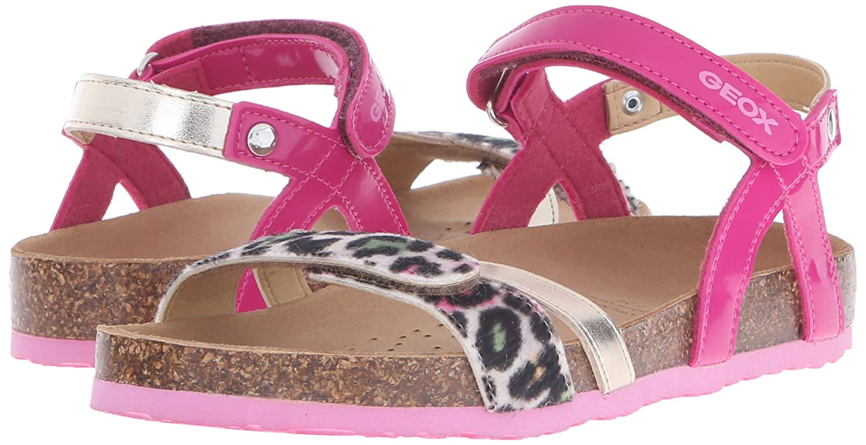 Geox J New Aloha G, Sandali con Cinturino alla Caviglia Bambina