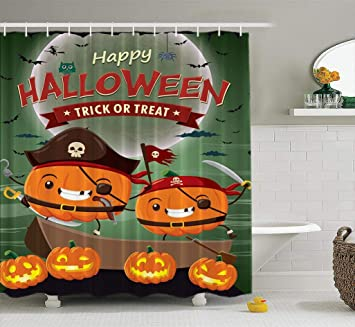 28 Type Halloween Design 180//200cm Bathroom Polyester Waterproof Shower Curtain