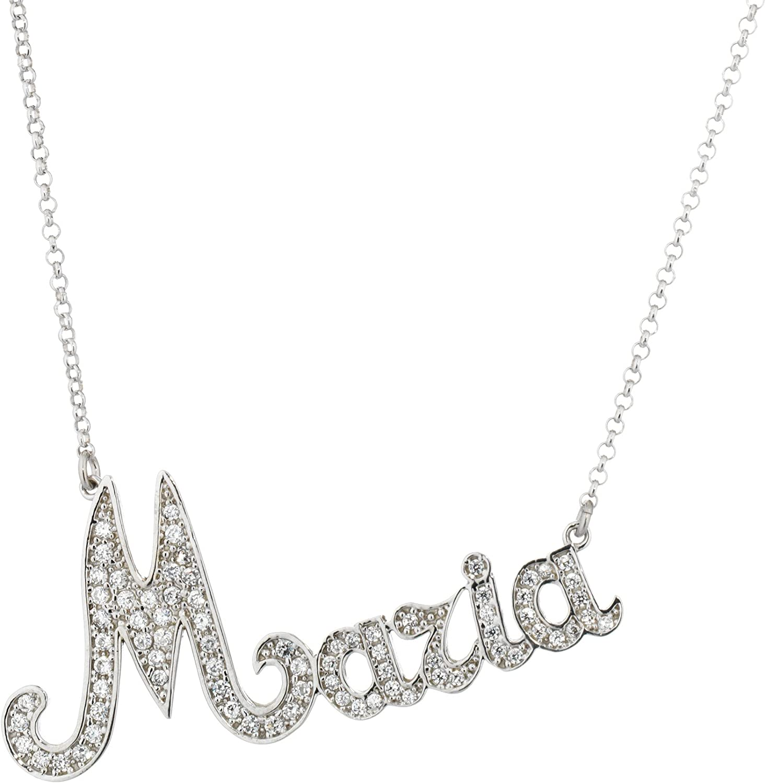 Collana da donna con nome personalizzabile in argento 925/%