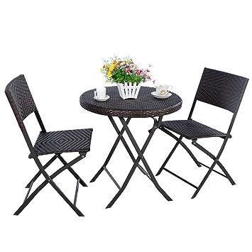 FDS juego de mimbre Bistro Garden juego de muebles de mesa silla ...