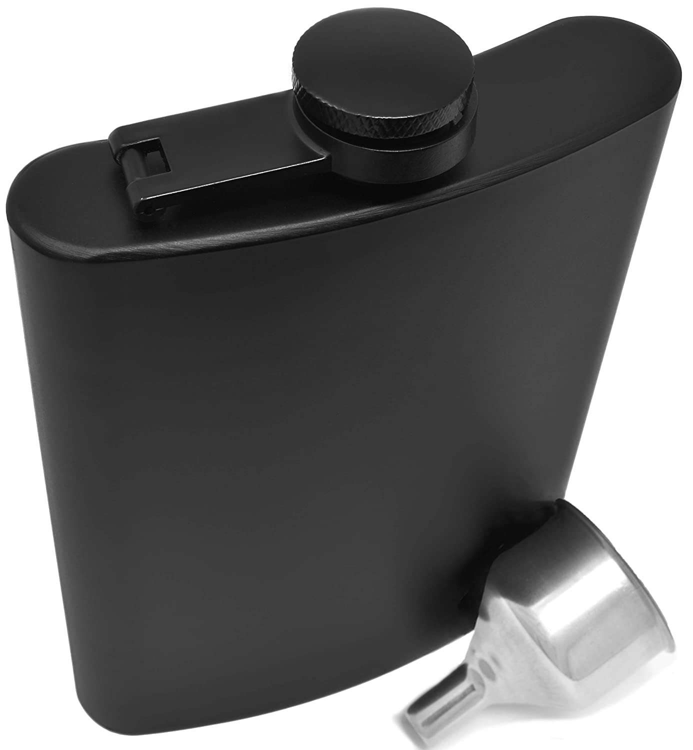 最愛 Hip Flask For Liquor 240ml Liquor Stainless Premium Steel Perfecting Matte Black Leakproof in Premium Gift Box With Big Funnel For Men & Women for Perfecting Your Drinking Experience by IDALIO B07CBF7DVB, rayon:76b517e2 --- a0267596.xsph.ru
