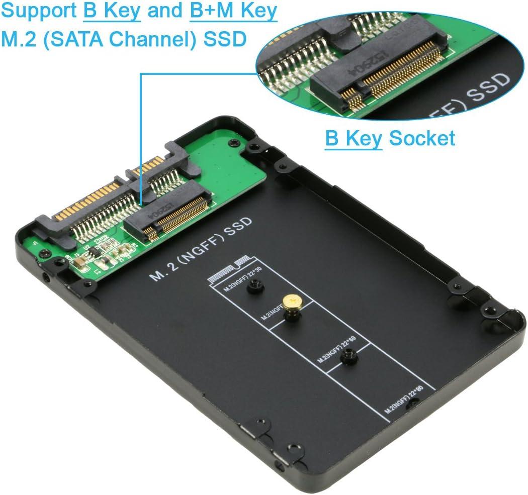riitop M.2 NGFF (SATA) SSD de 2,5 Pulgadas SATA 3 Adaptador ...