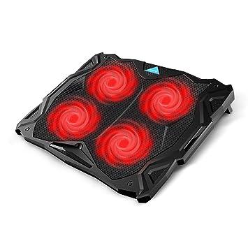 Tenswall portátil refrigeración Pad, portátil Ultra-Slim Silencioso Soporte de refrigeración para Ordenador portátil