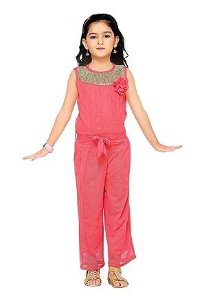 f8eff1989bb0 Aarika Girl s Self Design Party Wear Jumpsuit (C-120-GAJRI 18 2-3 Years