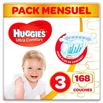 Huggies Ultra Comfort Couches Bebe Unisexe Taille 3 4 9 Kg
