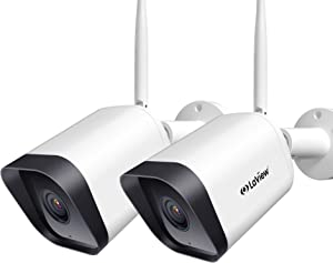 Laview Security Camera Outdoor 1080P HD,WiFi Cameras,Home Security Cameras with AI Human Detection,Two-Way Audio,Night Vision,ONVIF Protocol Compatible with Alexa,SD Slot&USA Cloud Storage(2 Pack)