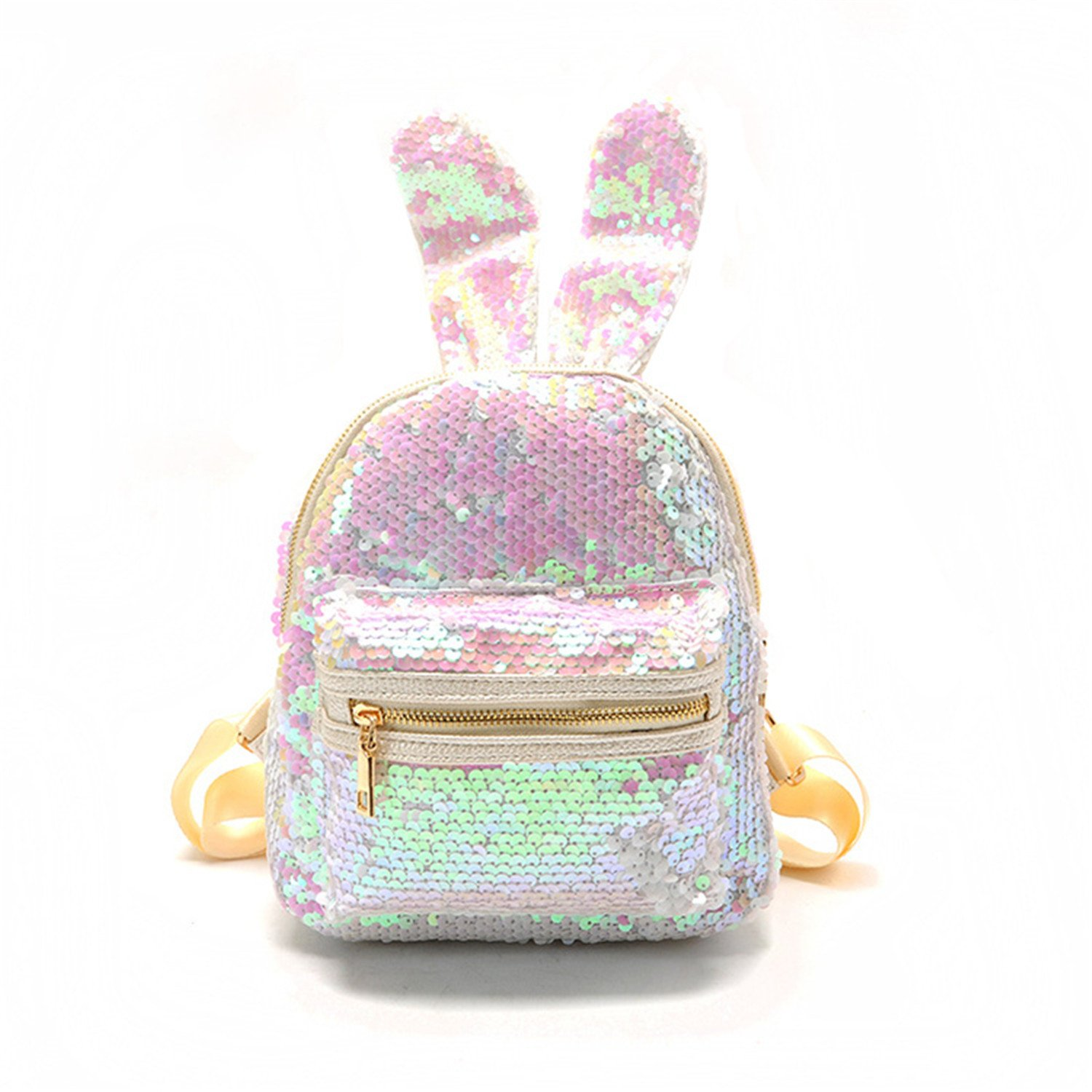 fb9eb543458 Amazon.com | Bling Sequins Backpack Cute Big Rabbit Ears Double ...
