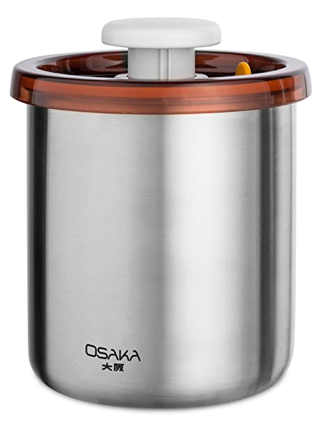 Osaka Vacuum Sealed Canister Stainless Steel Storage Container for