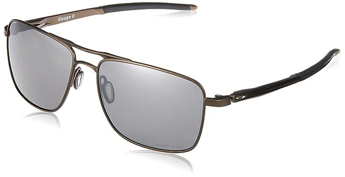 Oakley Gauge 6 Oo6038 603806 Polarizada 57 Mm, Gafas de Sol para Hombre, Plateado