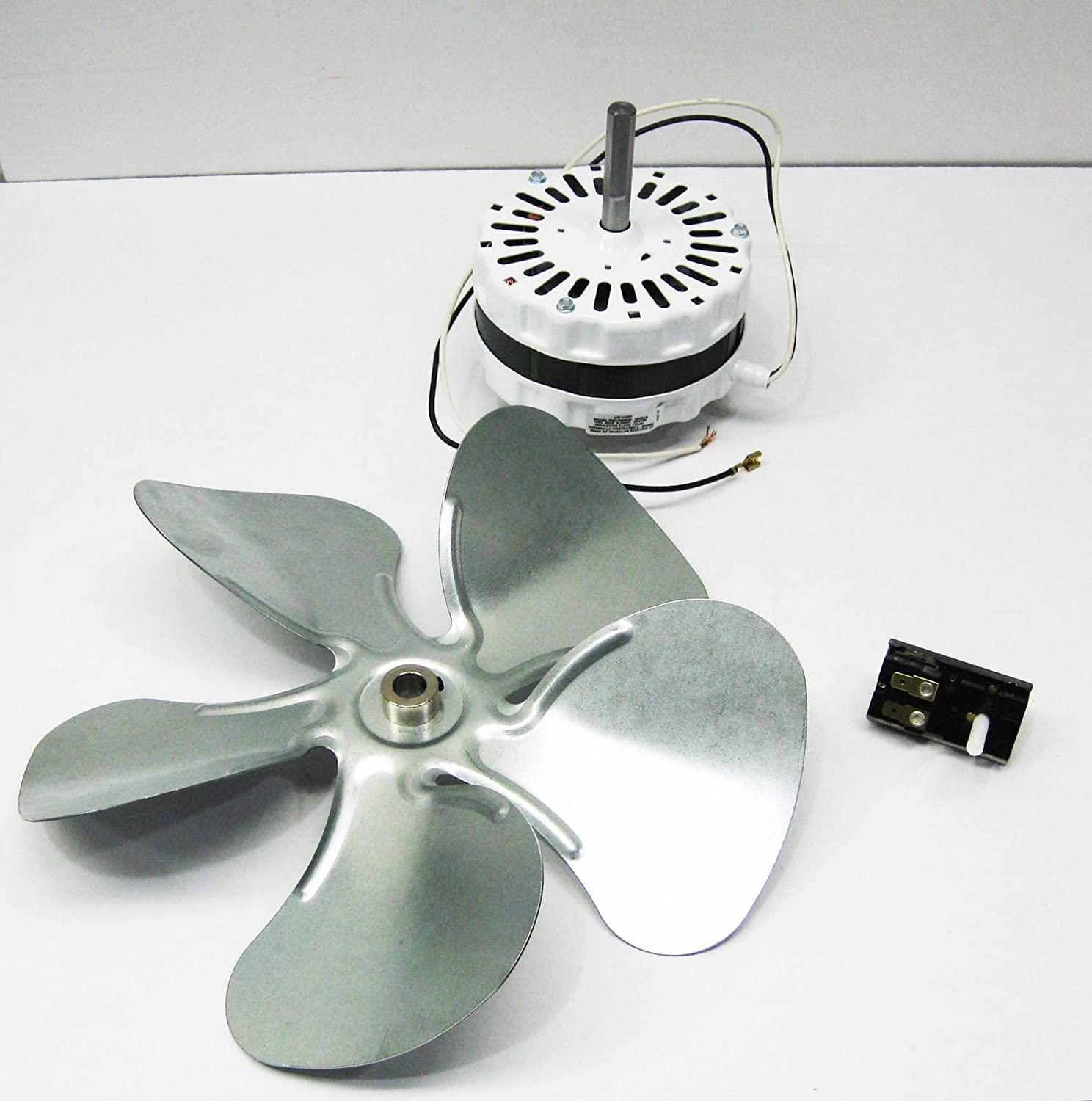 Ks New Attic Fan Ventilator Motor 12 Blade And 2 Wire Bi Metal Kansas City Fans Whole House Installation Thermostat Fits 1050 1200 Cfm