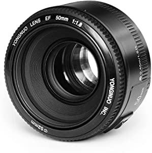 Yongnuo YN50mm F/1.8 Lens Large Aperture AF Lens in Black for Canon EOS Rebel Digital Camera+INSEESI Clean Cloth