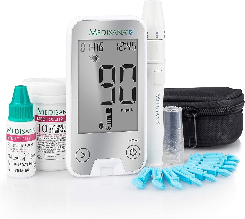 Medisana MediTouch 2 5s 0.6µl Plata - Medidor de glucosa (Litio, 50 mm, 98 mm, 11 mm, 47 g): Amazon.es: Salud y cuidado personal