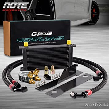 GPLUS For CAR//TRUCK 10AN 19 ROW Thermostat Adaptor Engine Racing Oil Cooler Kit