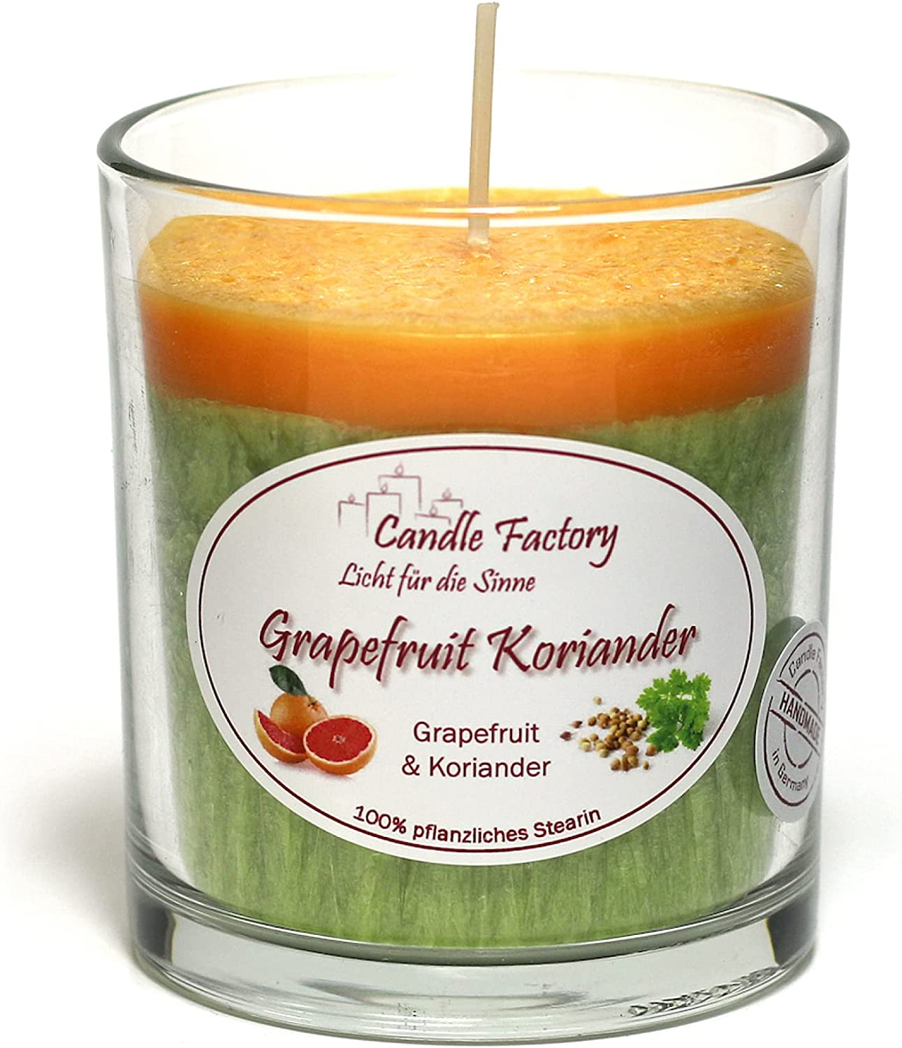 """Candle Factory  Candle to go /""""Grapefruit-Koriander/"""""""