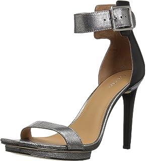 e3ed3dfe385a Calvin Klein Women s VABLE Heeled Sandal Dark Silver 10 Medium US