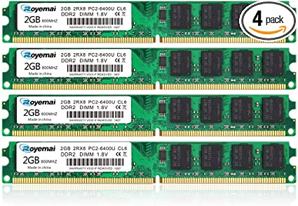 US Crucial 8GB Kit 2x 4GB 800Mhz DDR2 PC2-6400 PC6400 Laptop Memory Sodimm Ram