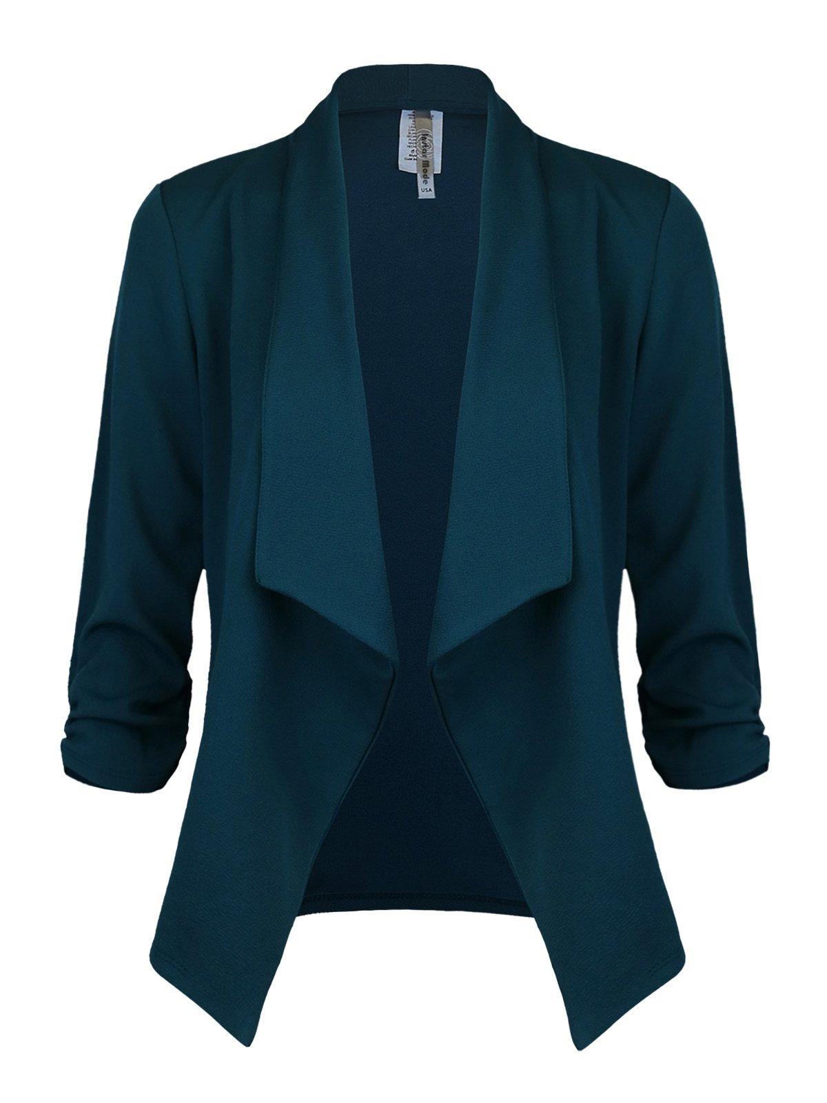 Instar Mode Women's Versatile Business Attire Blazers in Varies Styles (B12316 Green, Medium) by Instar Mode (Image #1)
