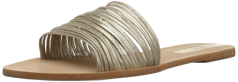 KAANAS Women's Guanabara Multi Strap Slide Leather Flat Sandal B079MZPMS6 7 B(M) US|Gold