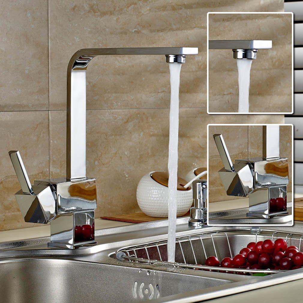 Auralum® Armatur Einhebel Wasserhahn Waschtischarmatur Wasserfall ...