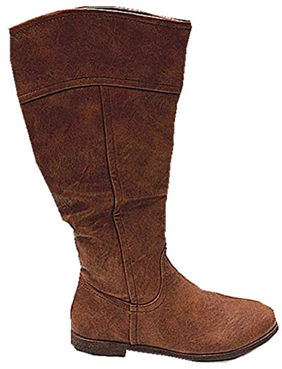 Botas de material Botines con tacón plate modo T901, color CAMEL: Amazon.es: Zapatos y complementos
