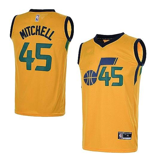 OuterStuff Youth Utah Jazz  45 Donovan Mitchell Kids Basketball Jersey (YTH  Small 8 3e64e9397