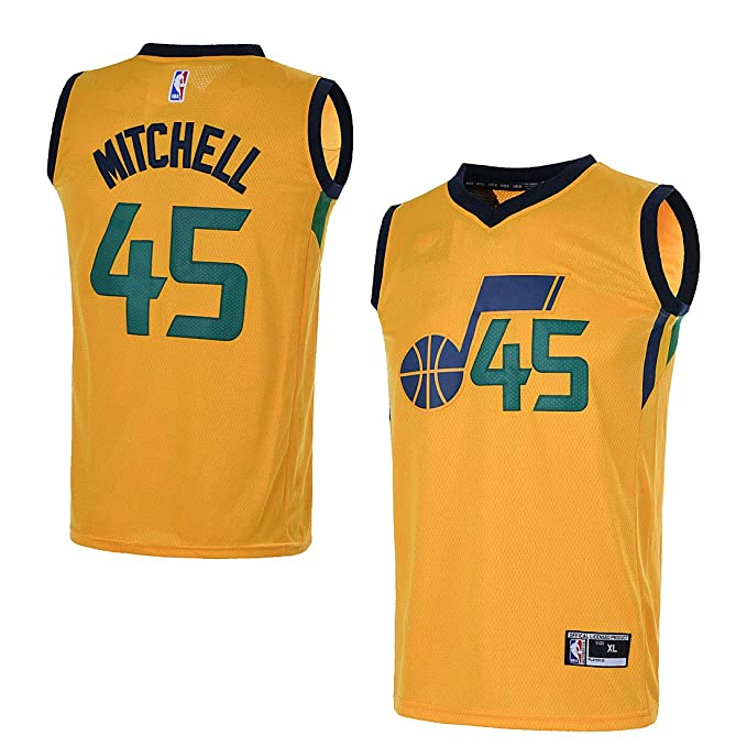 Amazon.com: OuterStuff Youth Utah Jazz #45 Donovan Mitchell ...