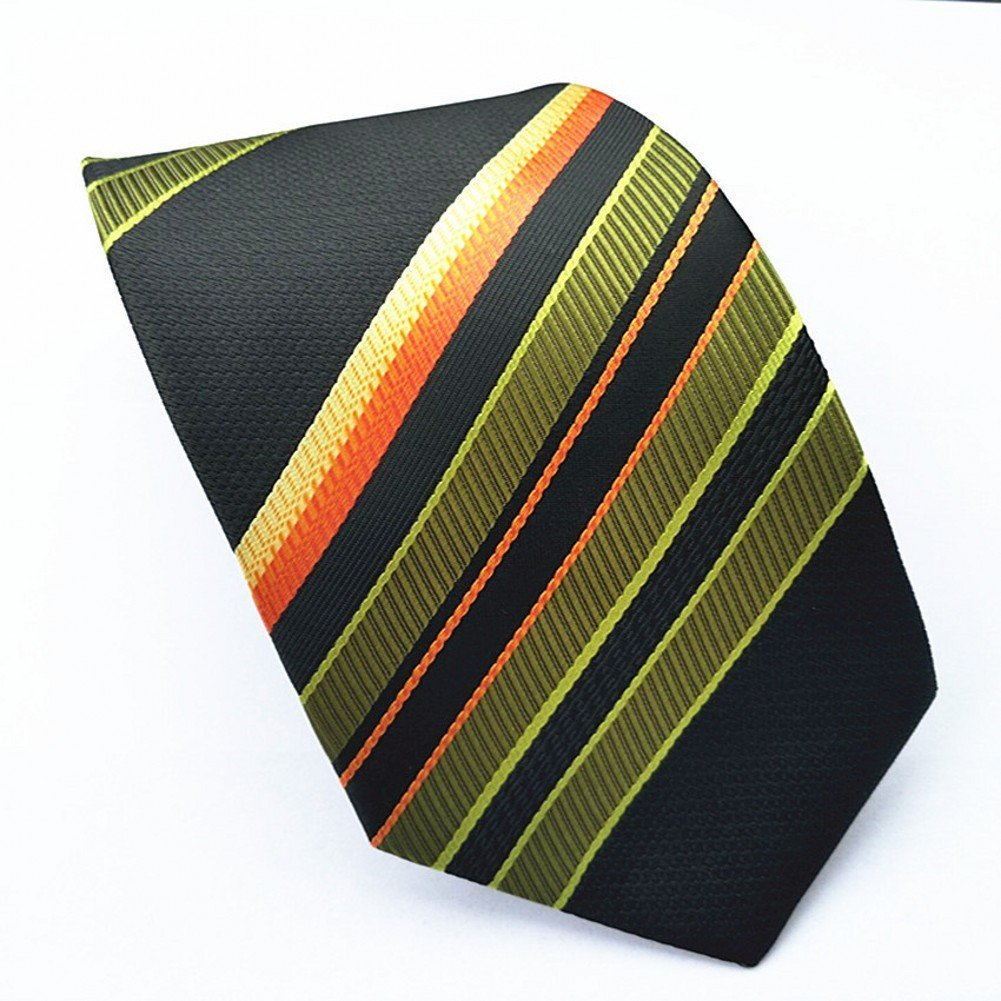 Amoy Extra Long Mens Fashion Striped Necktie for Business,Party