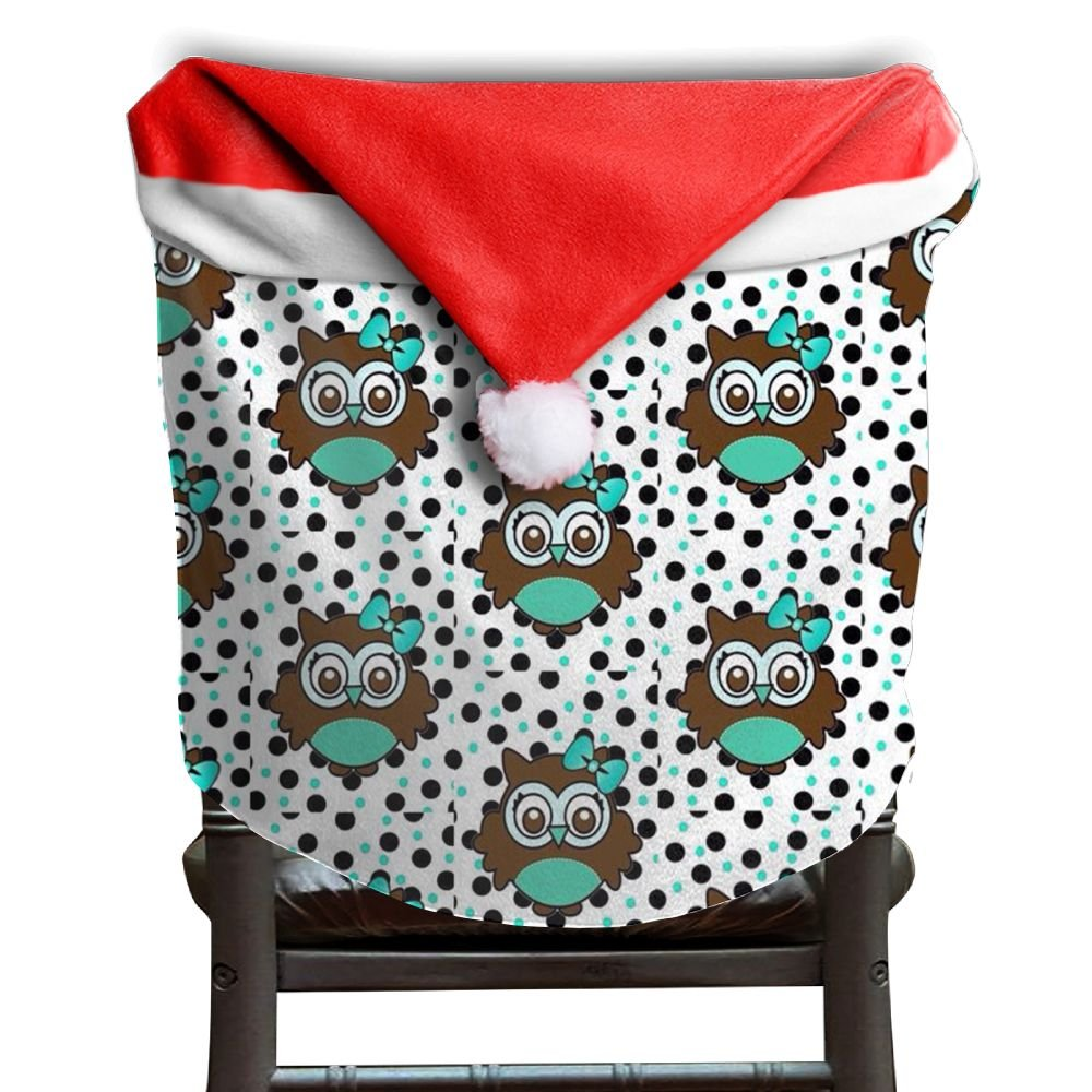 Owl Animal Christmas Chair Covers Great Scratch Resistant Hang Around Chair For Unisex Chair Back Covers Holiday Festive