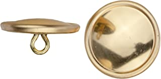 product image for C&C Metal Products Corp 5008 Rimmed Metal Button, Size 36, Polished Gold Finish, 36-Piece