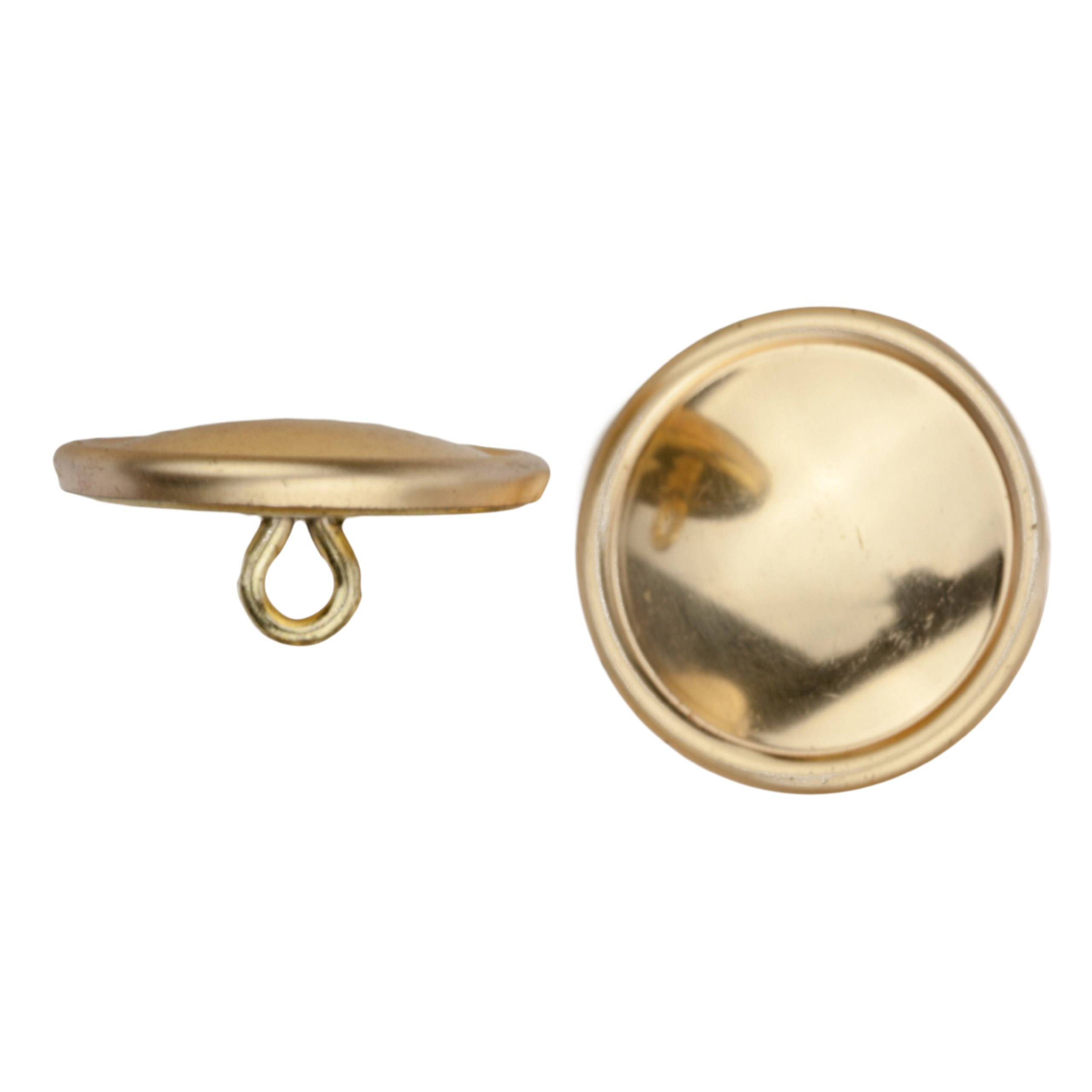 C&C Metal Products Corp 5008 Rimmed Metal Button, Size 36, Polished Gold Finish, 36-Piece