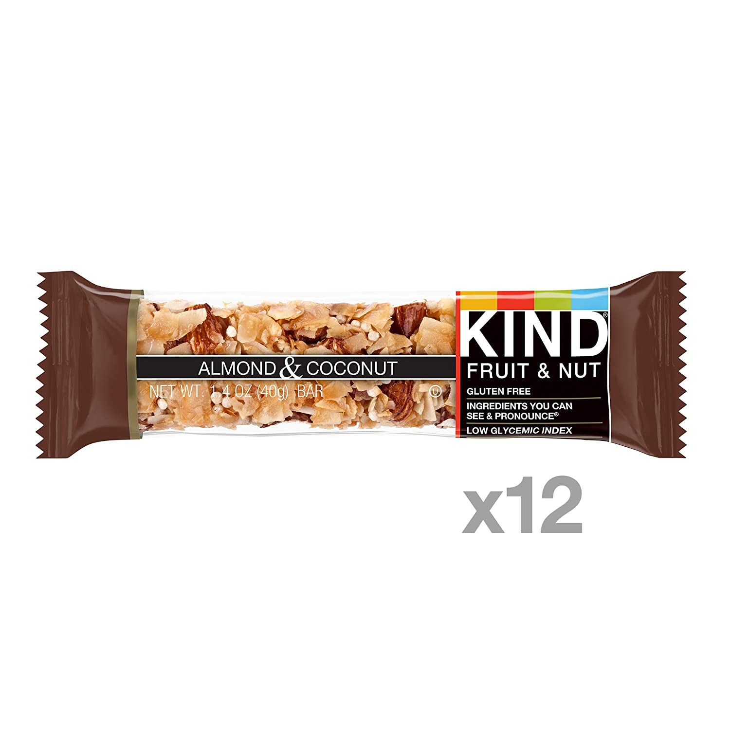 KIND Fruit & Nut, Almond & Coconut, All Natural, 39 g Gluten Free Bars, (Pack of 12): Amazon.es: Electrónica