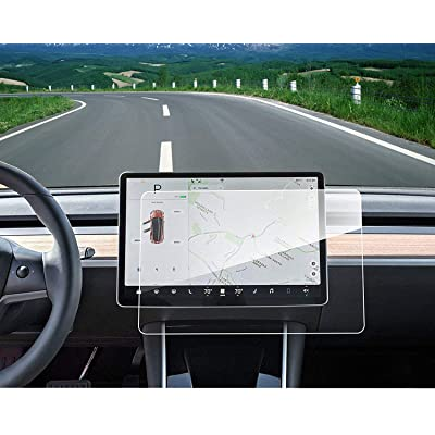 """Model 3 Center Screen Protector Model 3 Model Y 15"""" Center Control Touchscreen Car Navigation Touch Screen Protector Tempered Glass 9H Anti-Scratch and Shock Resistant for Model 3 Screen Protector: Automotive"""